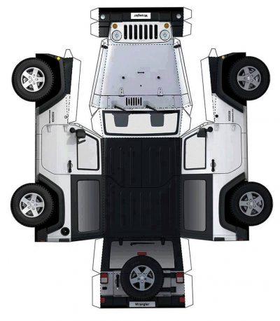 Модели машин из бумаги своими руками
