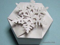 упаковка коробка- снежинка своими руками