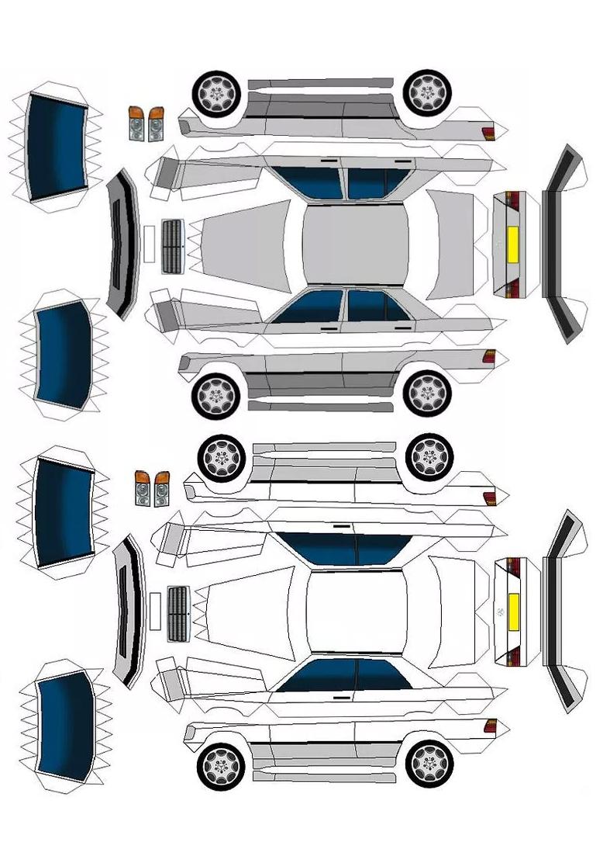 Mercedes-Benz e-класс шаблоны из бумаги