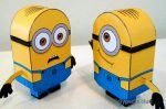 Minions Dave and Stewart from paper