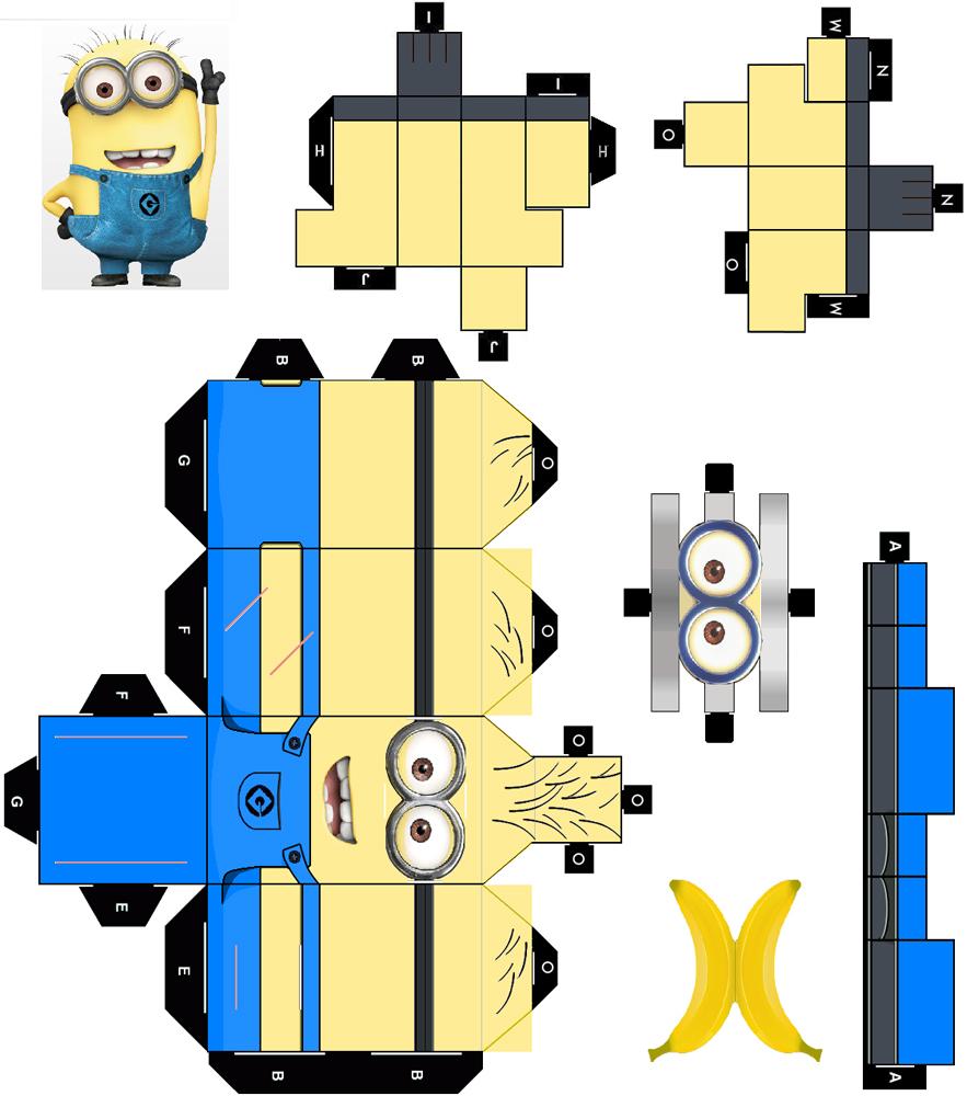 миньон шаблон 3