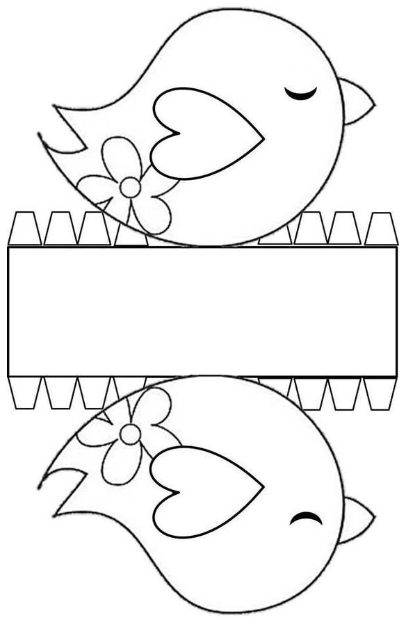 шаблон птицы
