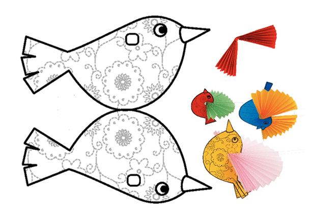 шаборон птички из бумаги