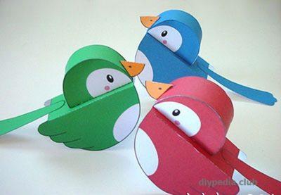 птички из бумаги своими руками