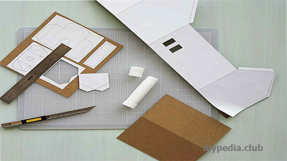 Cut the house out of paper