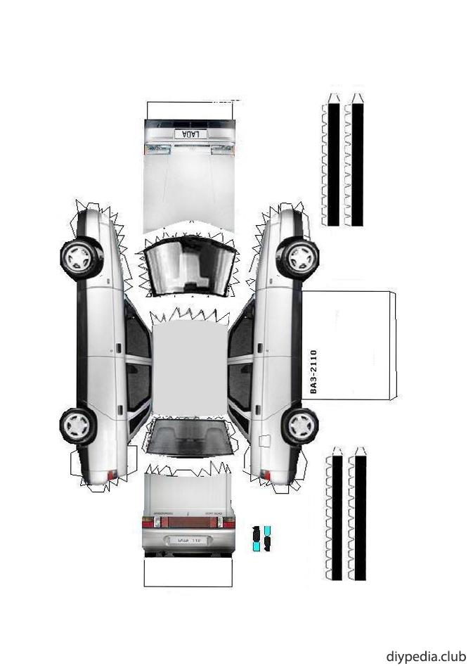 3d модели ВАЗ 2110