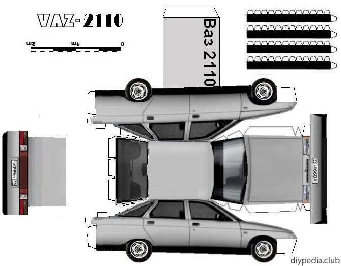 3д модели ВАЗ 2110