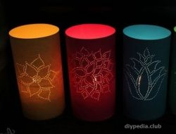 Paper lanterns with own hands