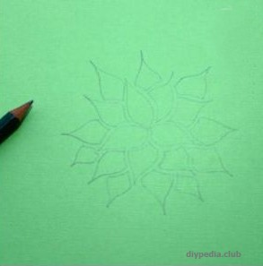 Draw an ornament for a paper lantern