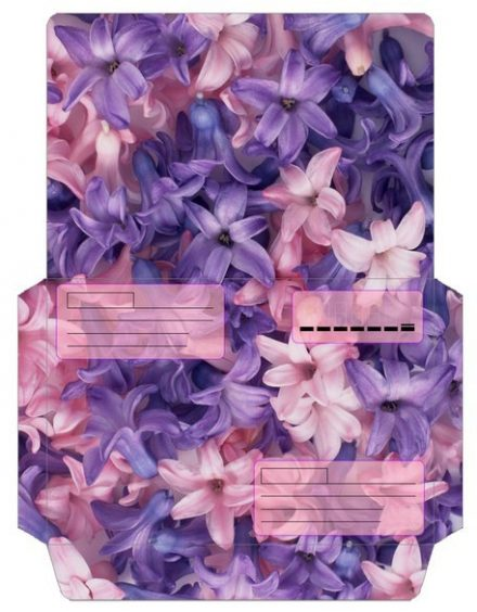 Gift envelope template for printout
