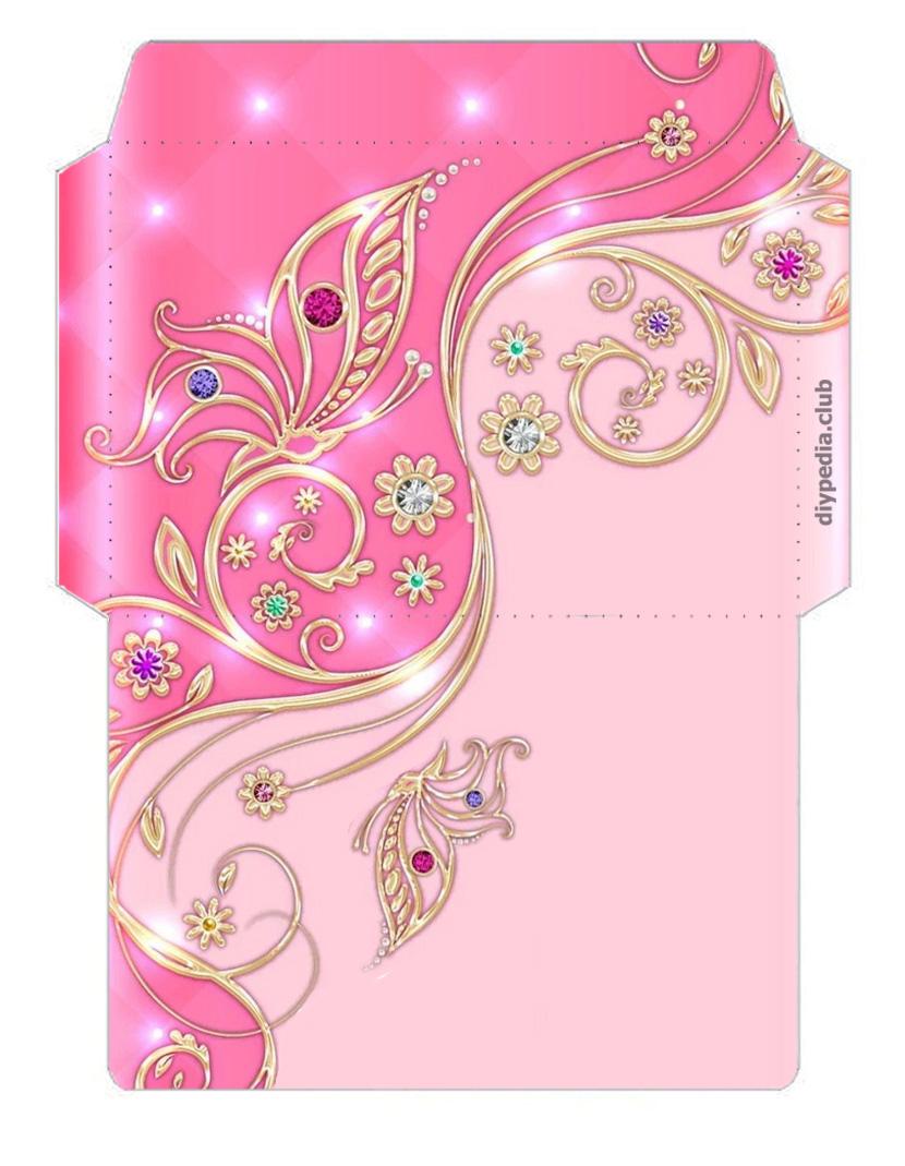 шаблоны подарочных конвертов из бумаги