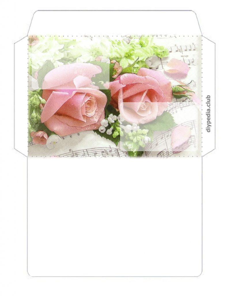 Postkartenumschlag mit den Händen
