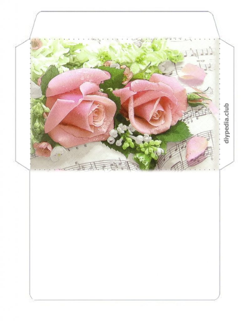 flower envelopes for printing