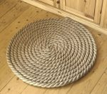 Rope mat with own hands