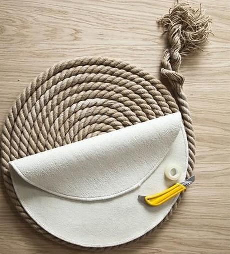 подложка для ковра из каната своими руками