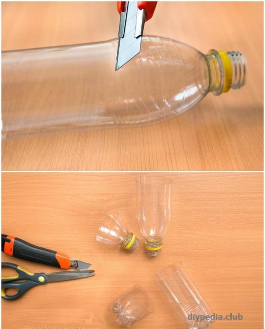 разрезаем бутылки