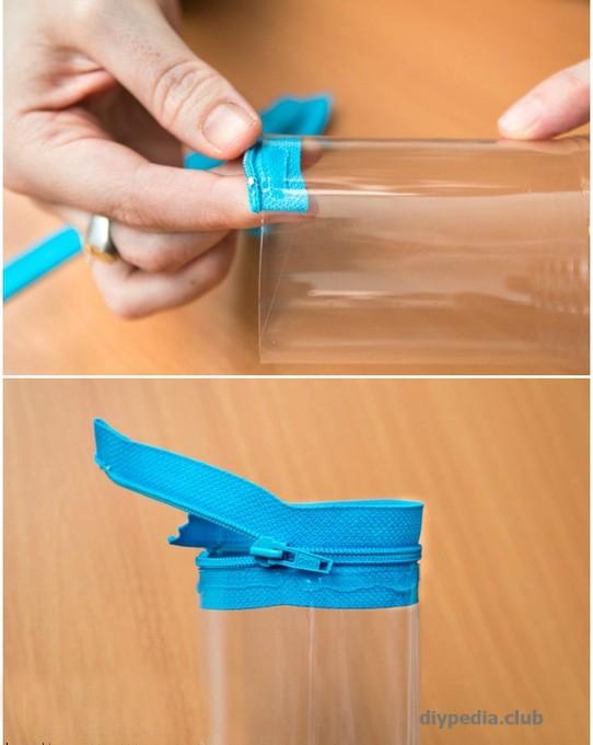 создание пенала из пластиковой бутылки