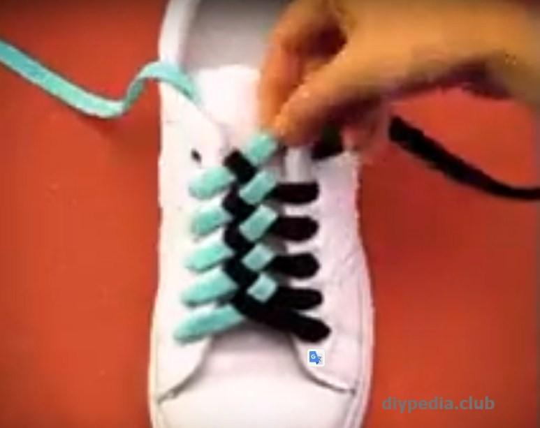 Оригинальное завязывание шнурков