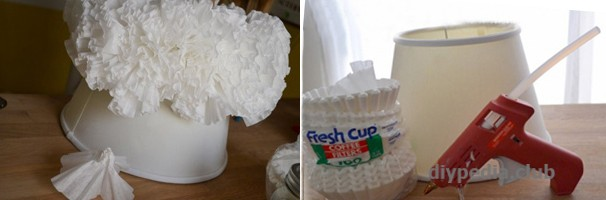 Glue filters to the lampshade