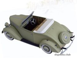Ford Convertible Cabriolet of paper