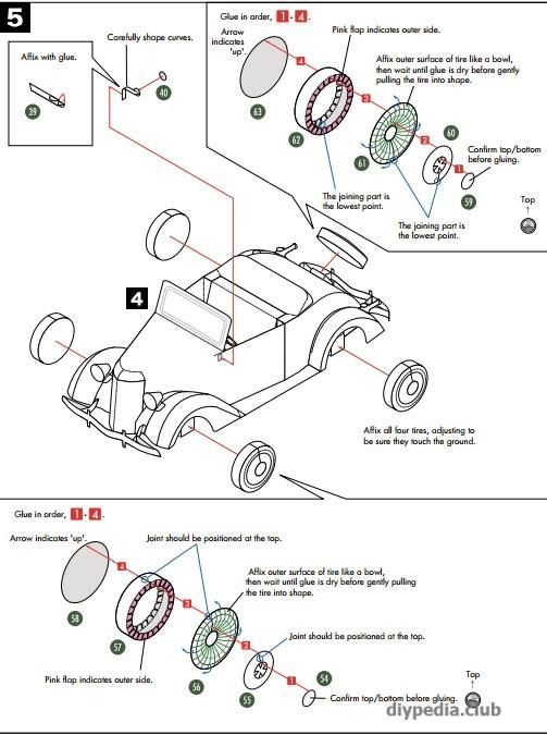 шаблон машины из бумаги распечатать