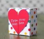 Paper gift box (template)