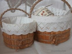 Basket with own hands master class