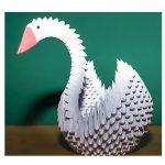 Оригами лебедь из бумаги (видео)
