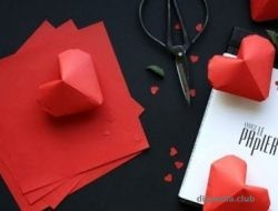 Make voluminous hearts origami Master Class