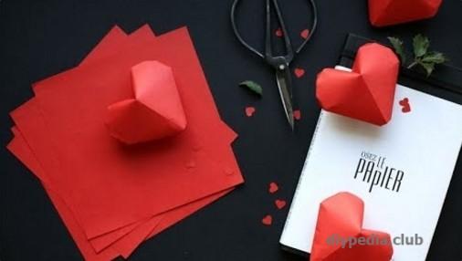 Make voluminous hearts origami Master Class