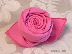 Rose of napkin