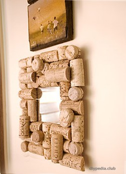 Frame from wine corks