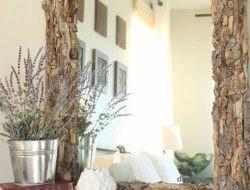 Рамка для зеркала из щепок и коры деревьев мастер класс