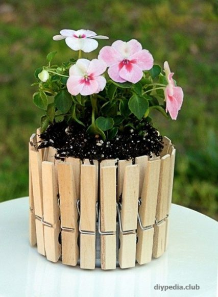 Flower pot with your own hands