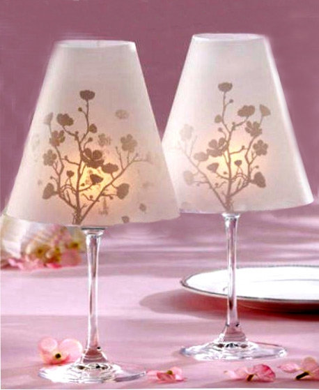 Candle holder from a wineglass