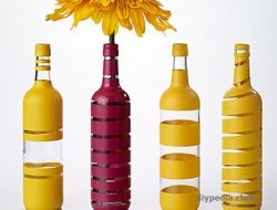 Glass bottle decor