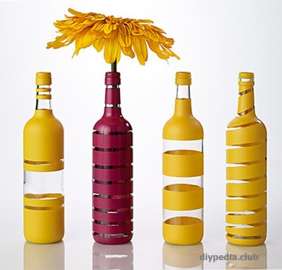 Glass bottle decor