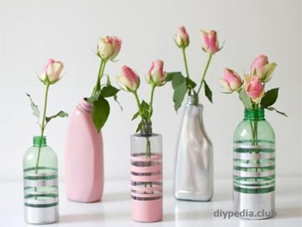 сделать вазу +из пластиковой бутылки своими руками
