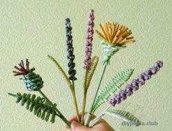 плетение из газетных трубочек цветы