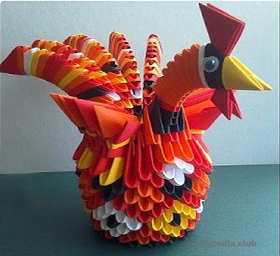 Модульное оригами Петушок