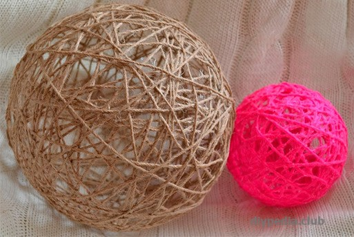 Balls of threads with your own hands