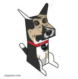 Paper dog (printout)