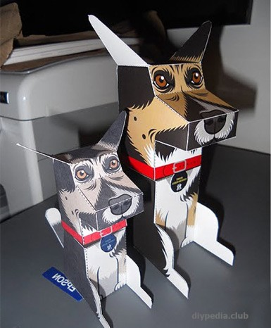 doggie from paper for children