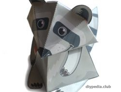 Raccoon from paper