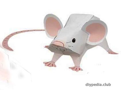 как сделать мышь из бумаги