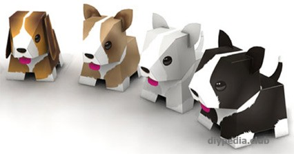Puppies from paper