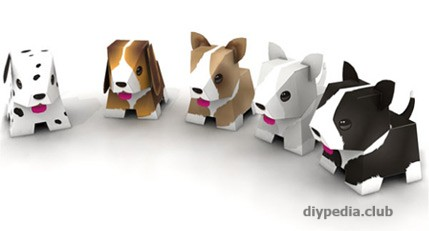 How to make a paper puppy