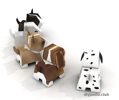Dog from paper