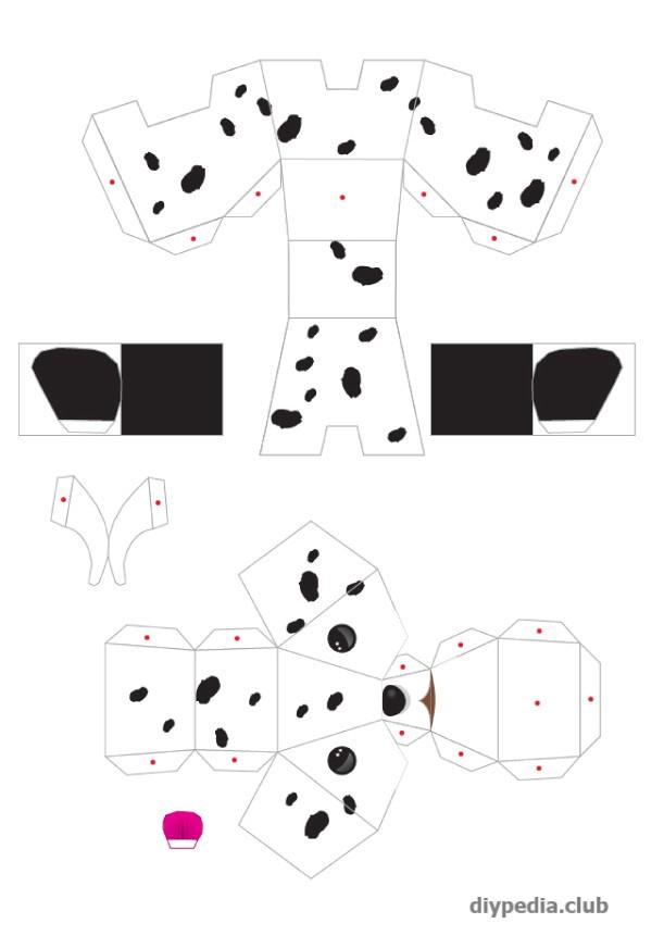 поделка собака из бумаги
