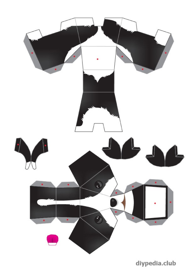 Dog from paper templates